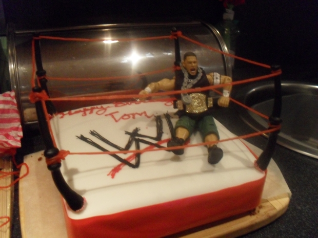 Wrestling Birthday Cake