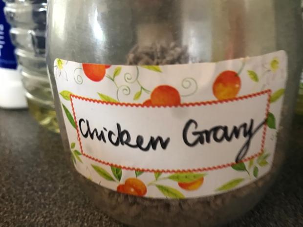 Homemade gravy mixture